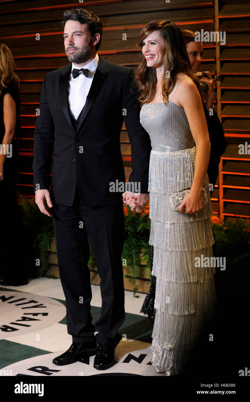 Ben Affleck et Jennifer Garner assiste à la Vanity Fair Oscar Party 2014 le 2 mars 2014 à West Hollywood, Photo Stock