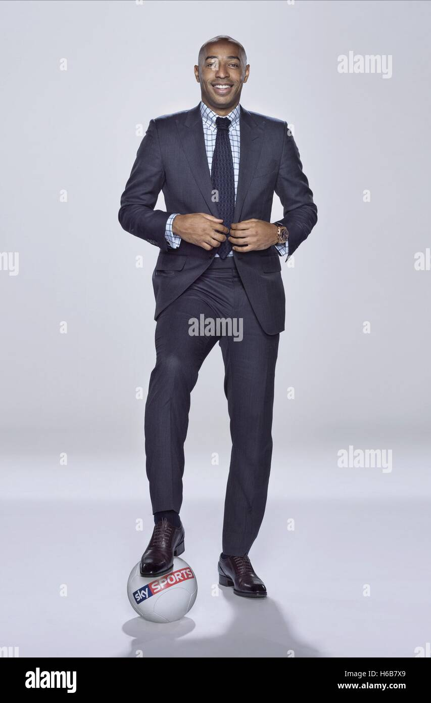 THIERRY HENRY SKY SPORTS PRÉSENTATEUR (2014) Photo Stock
