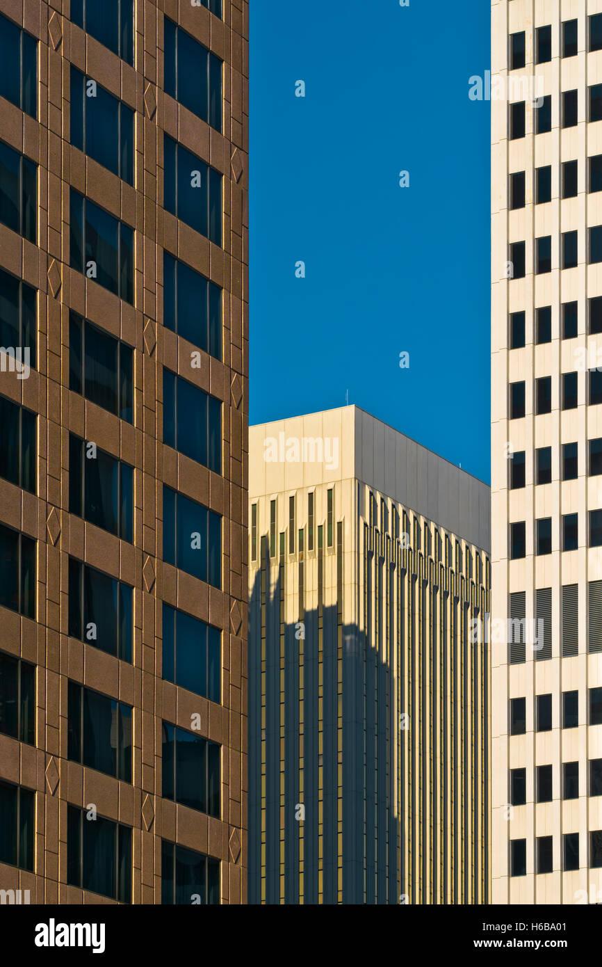 L'architecture, bâtiments dans la ville de Charlotte, NC Photo Stock