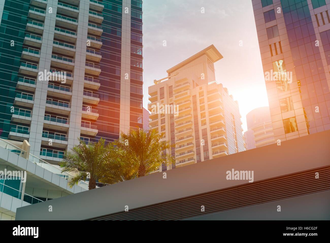 Bureau moderne et les b timents résidentiels les paumes à dubaï
