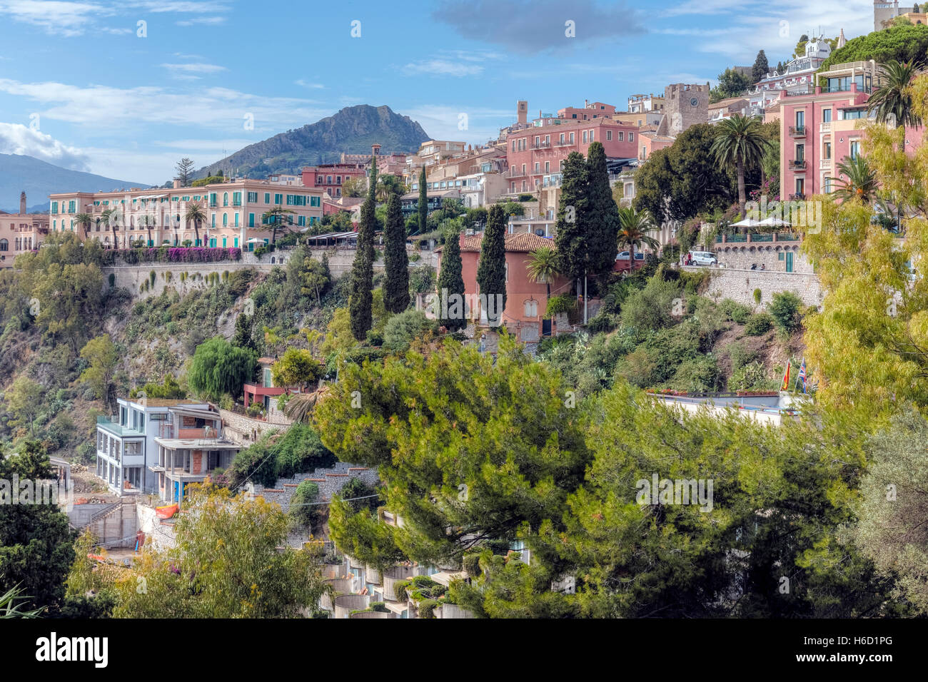 Taormina, Messine, Sicile, Italie Photo Stock