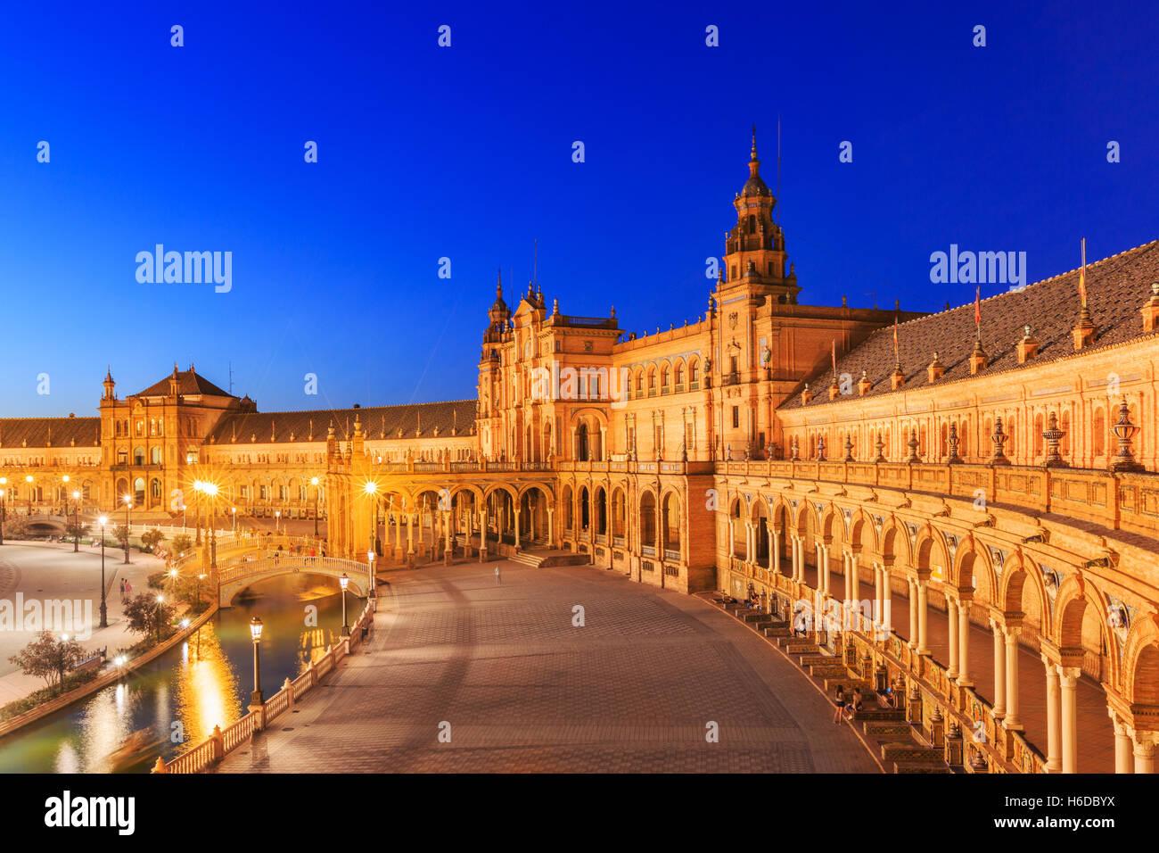 Séville, Espagne. Place d'Espagne Photo Stock