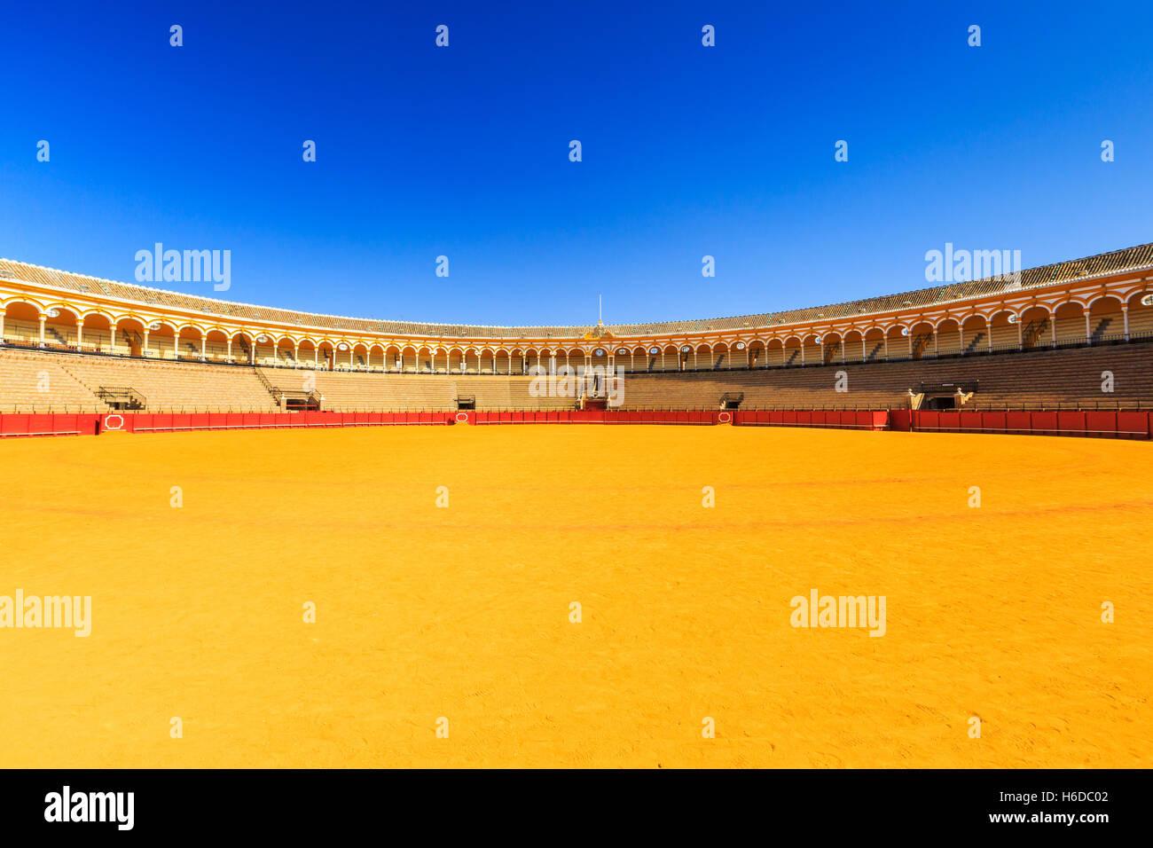 Séville, Espagne. Plaza de Toros (Arènes). Photo Stock