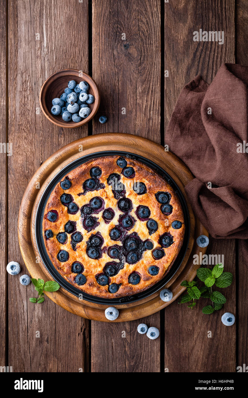 Gâteau aux bleuets Photo Stock