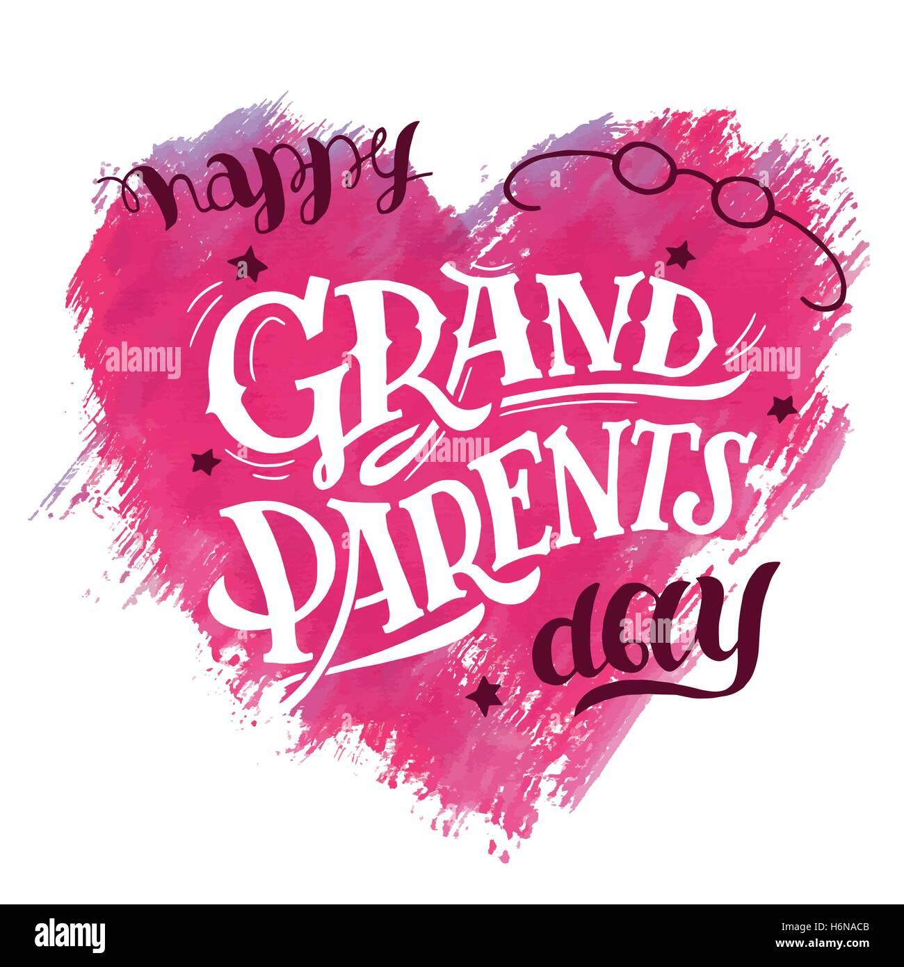 journée des grands-parents heureux. carte de cadeau pour papi et