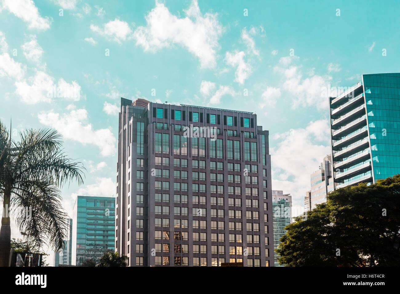 Photo de bâtiments et les rues de Sao Paulo, Brésil (Brasil) Banque D'Images