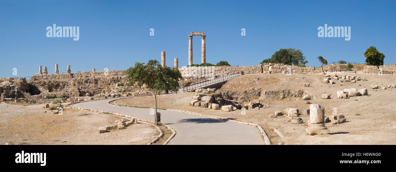 La Citadelle d'Amman, Jordanie Photo Stock