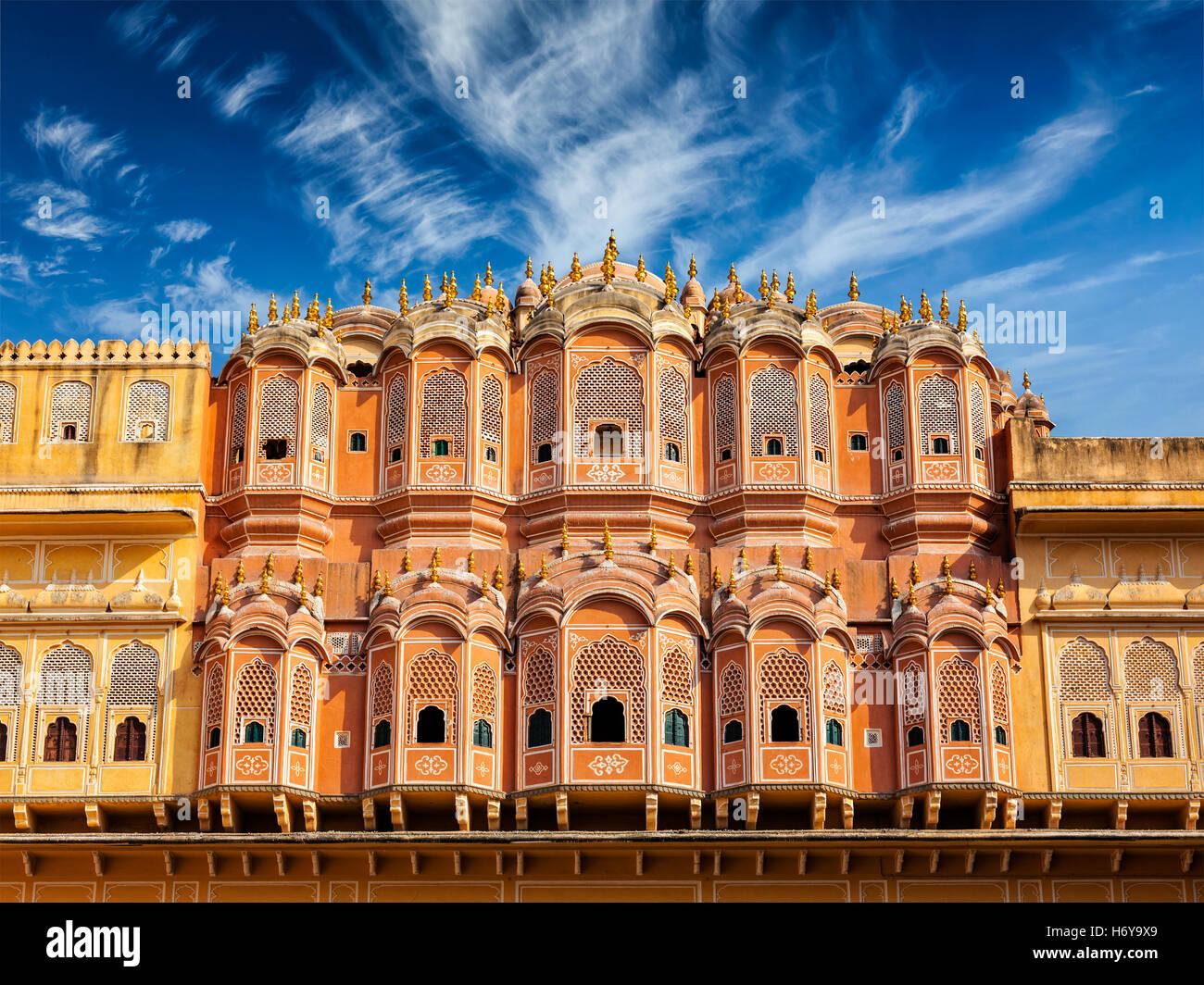 Hawa Mahal - Palais des Vents, Jaipur, Rajasthan Photo Stock
