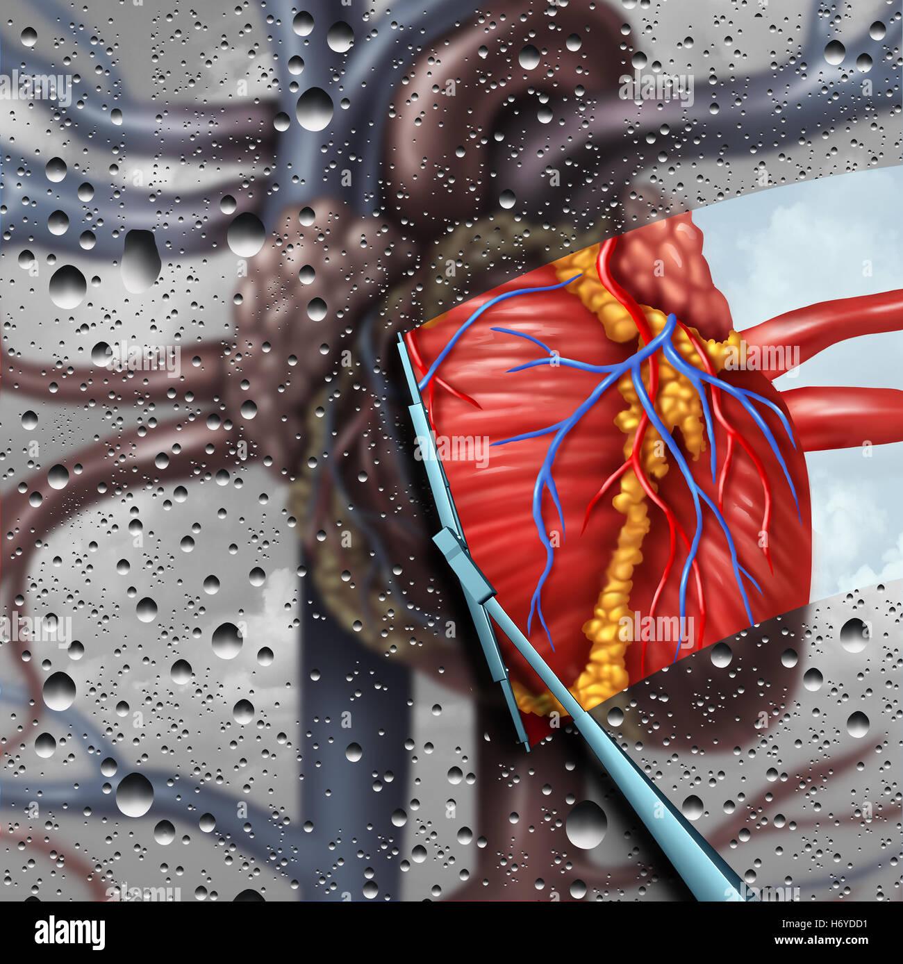Les maladies du cœur humain comme une thérapie de la santé cardiaque et cardiovasculaire concept médical Photo Stock
