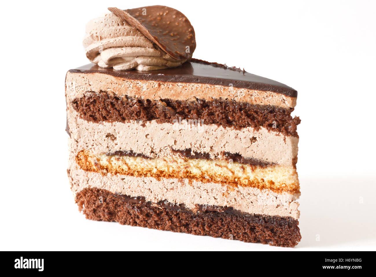 Gâteau au chocolat en couches Photo Stock