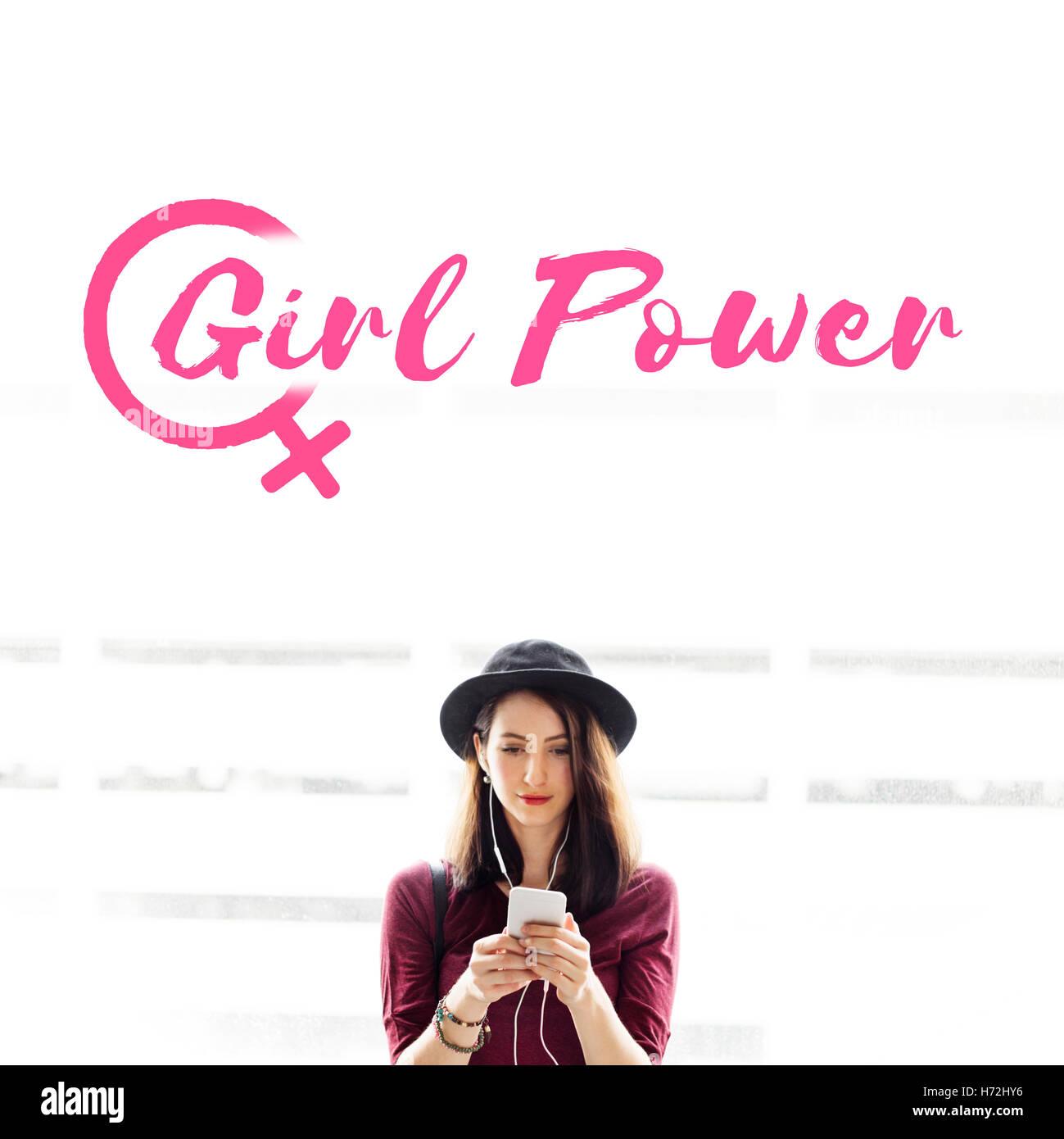 Les droits musicaux Girl Power Concept Égalité Photo Stock