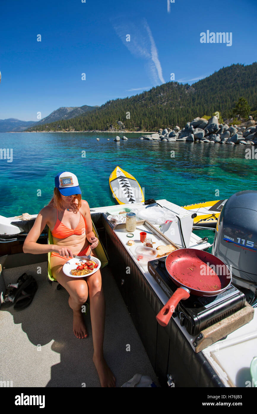 La vie quotidienne sur le lac Tahoe Photo Stock