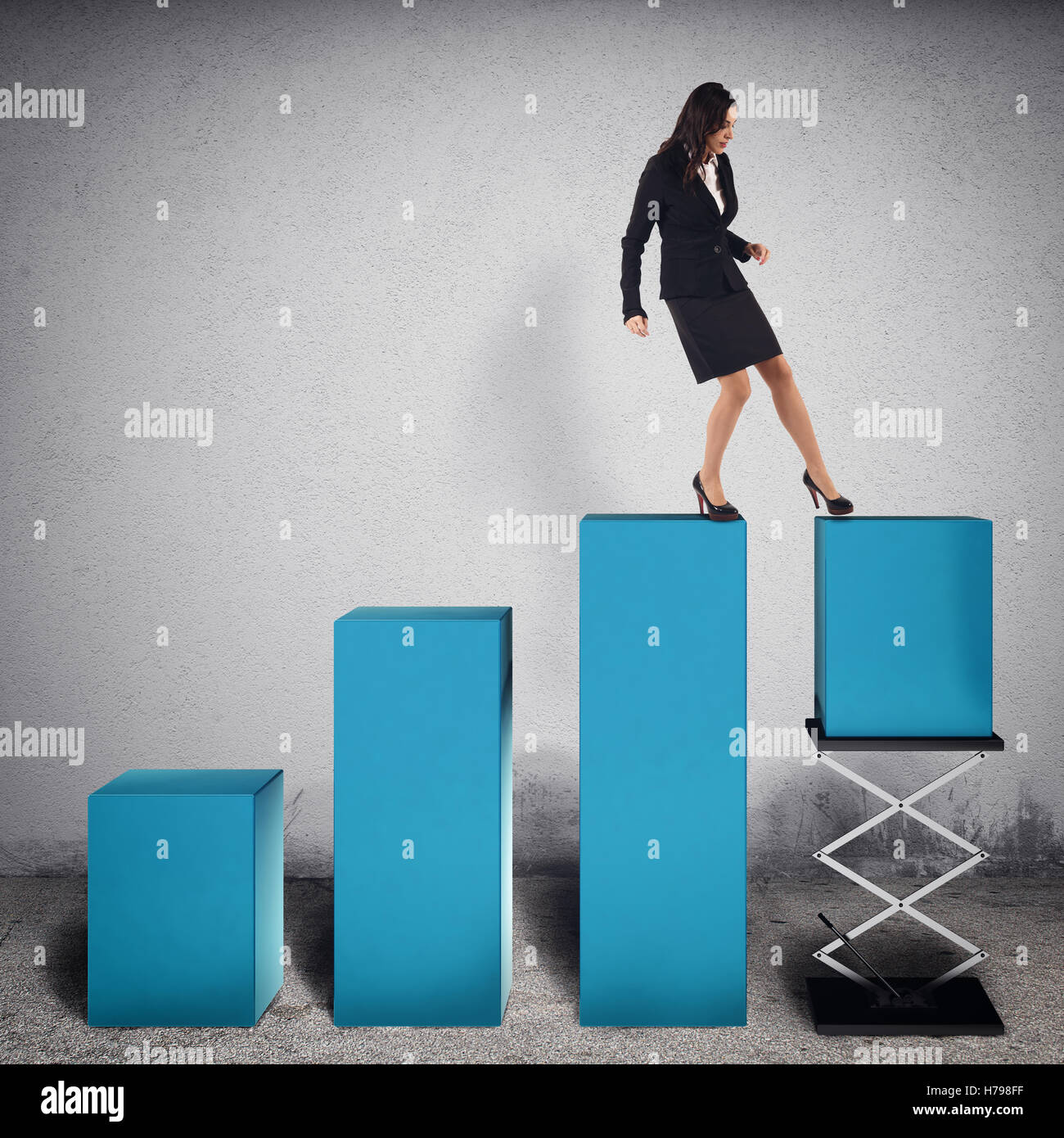 Rigged profit financier . Le Rendu 3D Photo Stock