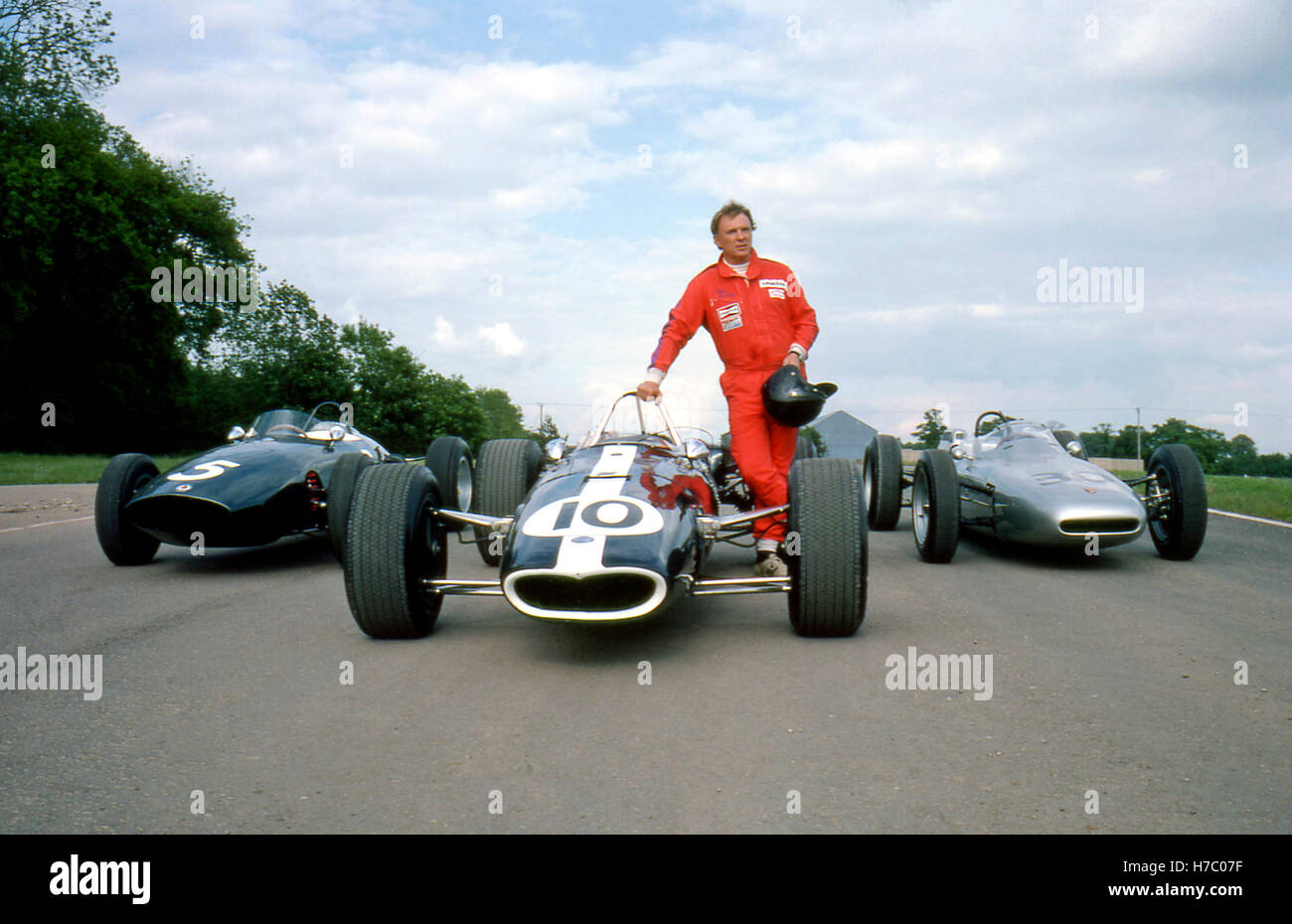 1989 DAN GURNEY DONINGTON BRM P48 - EAGLE-CLIMAX - Porsche 804 Photo Stock