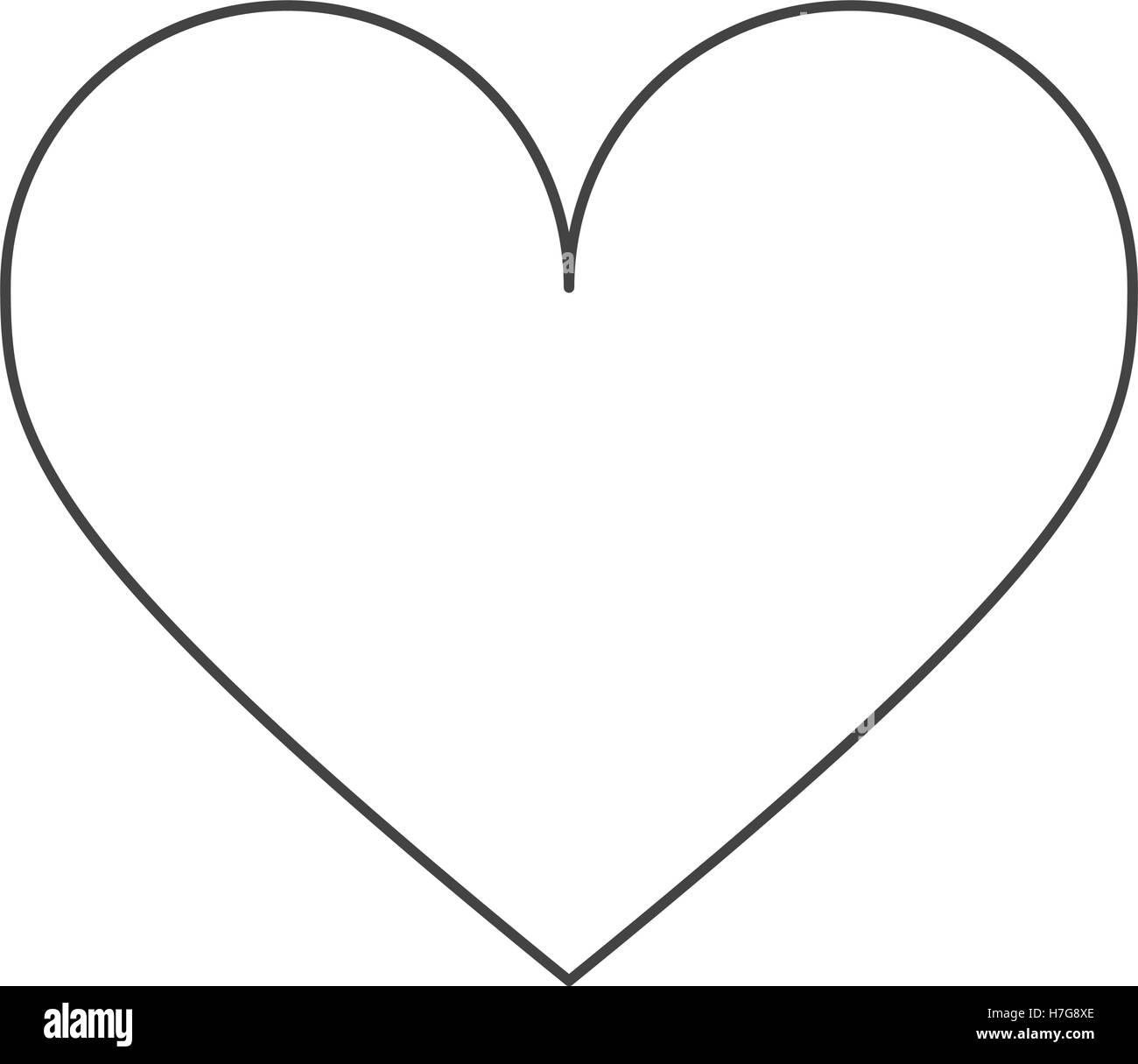 Conception de forme coeur isolé Photo Stock