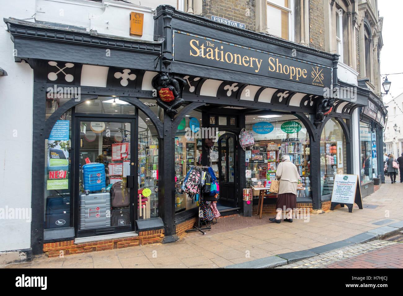 La Papeterie Shoppe Preston Street Faversham Kent Photo Stock
