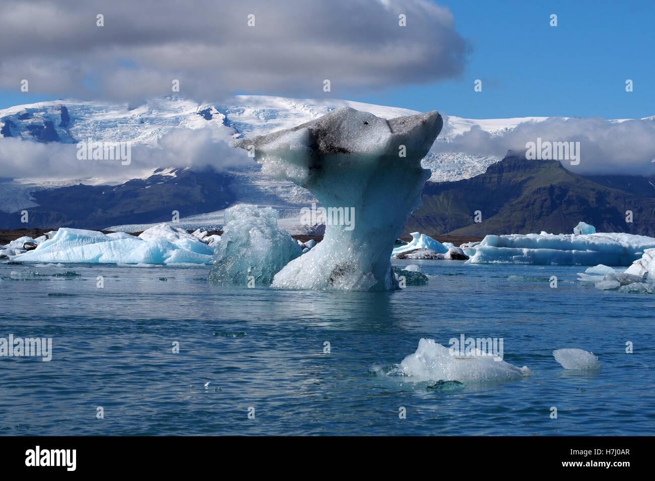 Iceberg Jökulsárlón lagoon, Iceland Banque D'Images