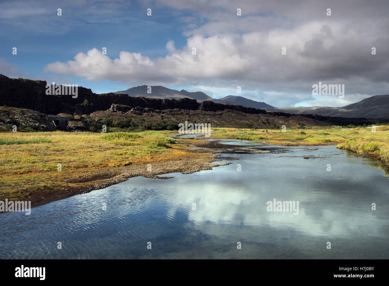 Le parc national de Thingvellir en Islande Photo Stock