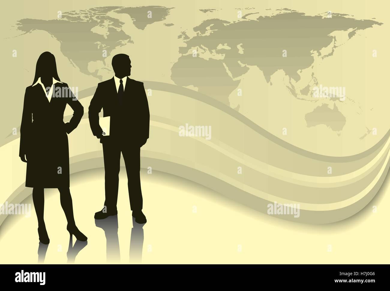 Partenaires mondiaux Photo Stock