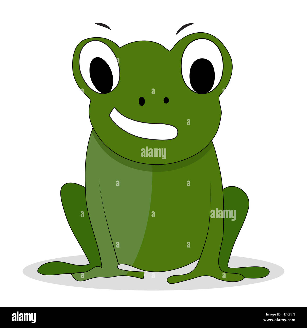 Grenouille Verte Caractere Dessin Anime Cartoon Animal Le Prince