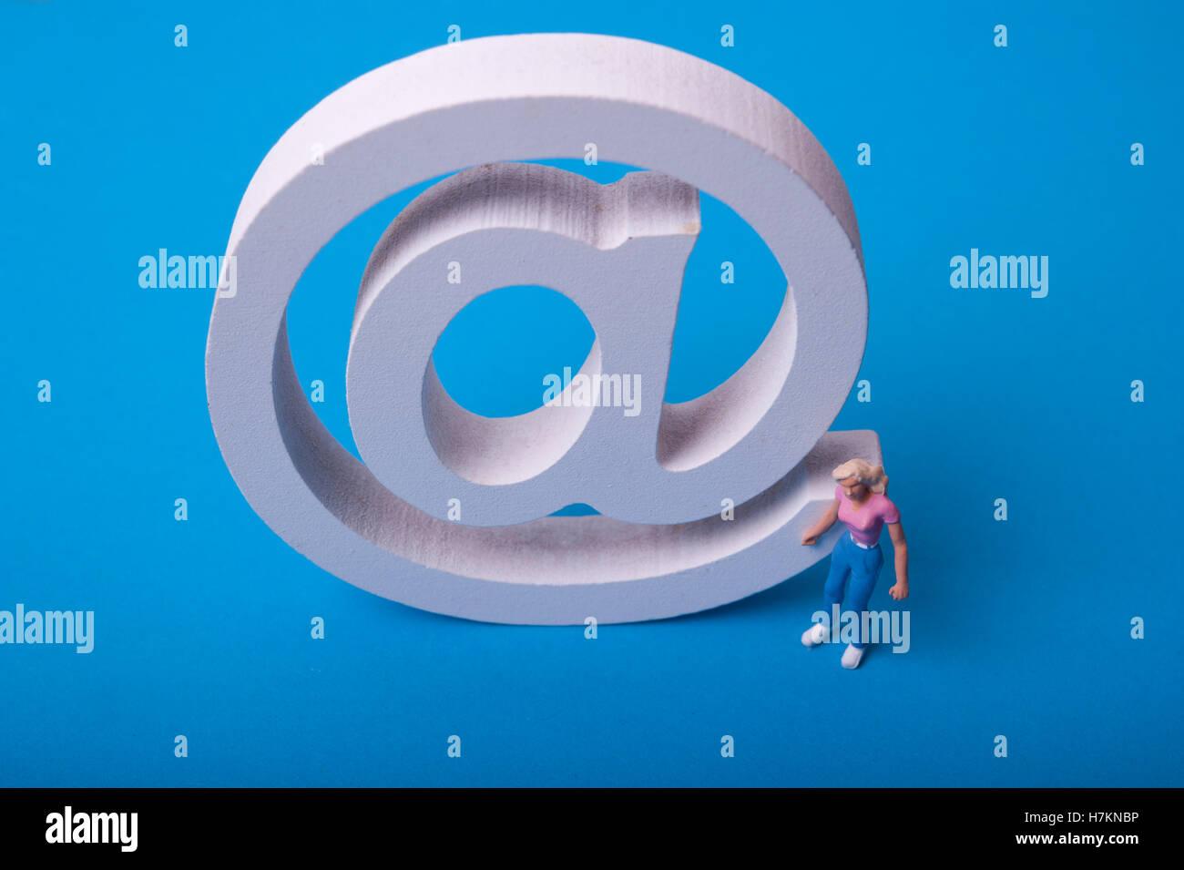 notion de courrier électronique Photo Stock