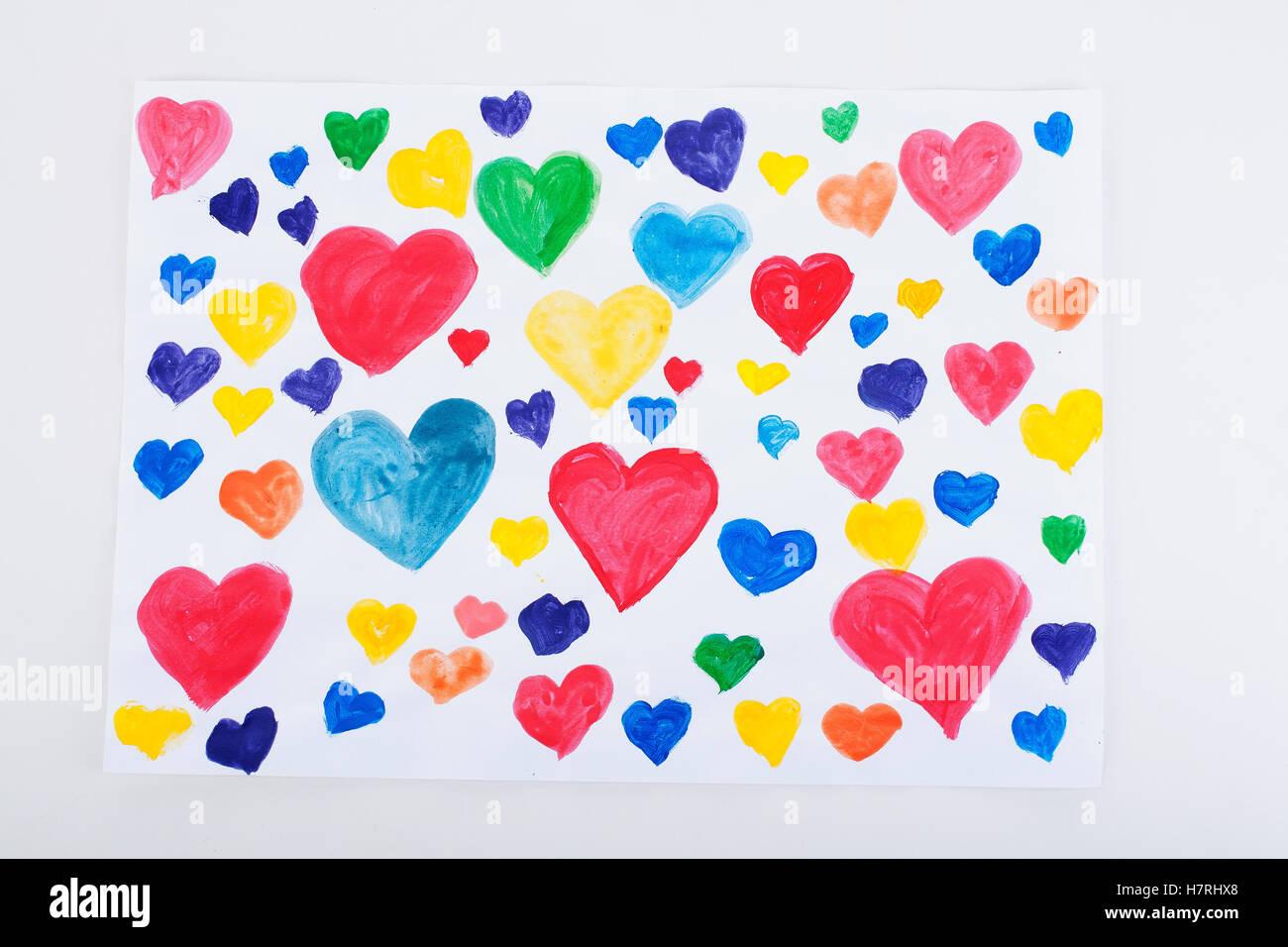 Enfants Peinture Dessin Et Collage Avec Du Papier Coloré