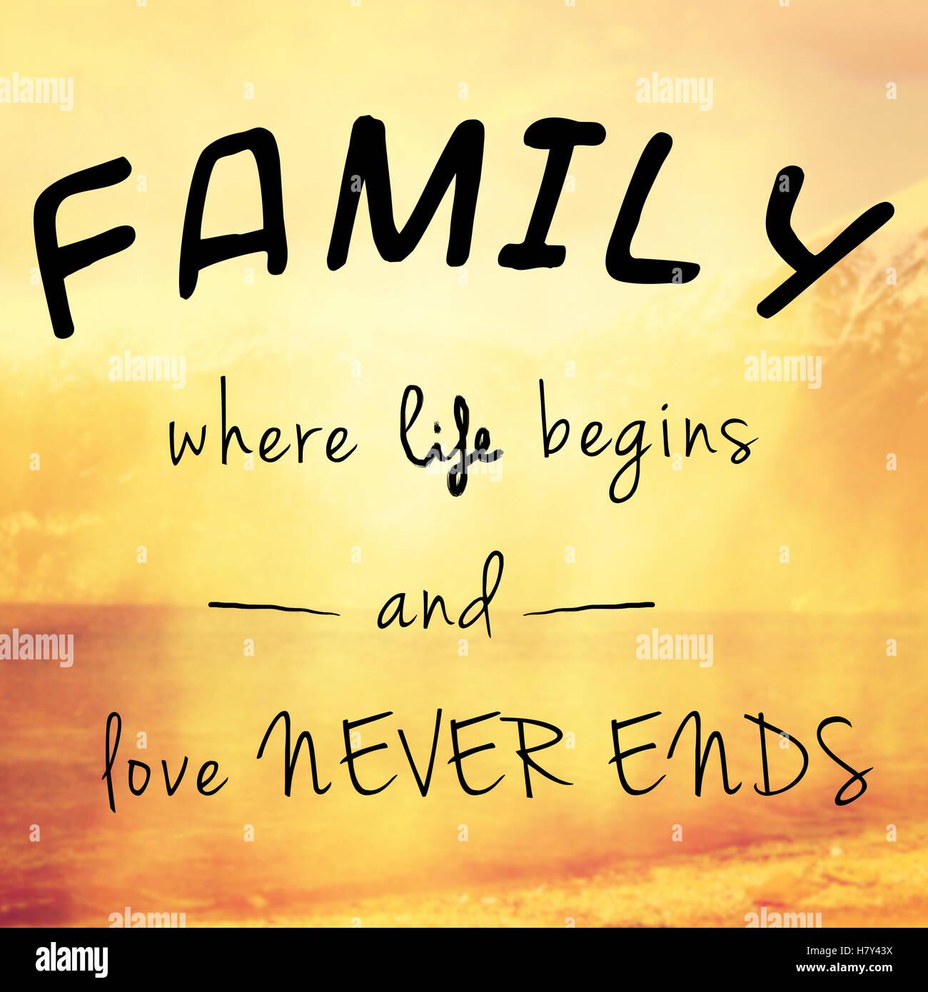 Belle Et Message Inspirant Ou Citation Sur La Famille La