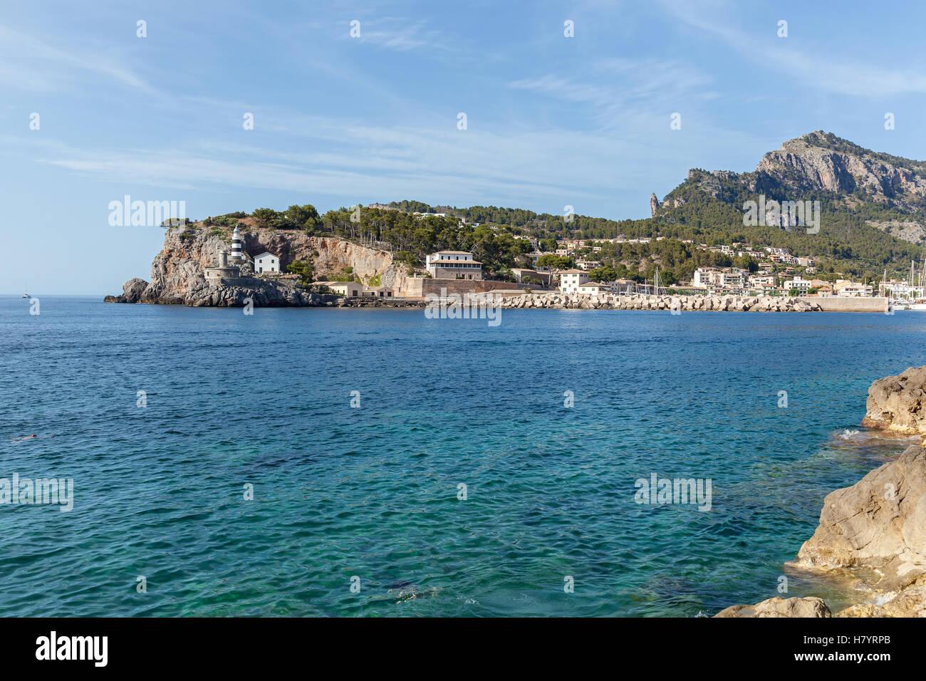 Vue de la côte de Majorque. Vue imprenable sur la côte de Majorque et de la surface de la mer , cliff Photo Stock