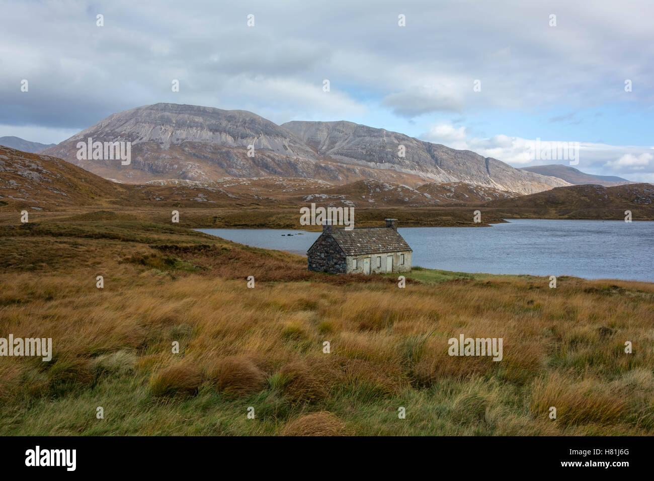 Loch stack et ben arkle, Sutherland, Scotland, united kingdom Photo Stock