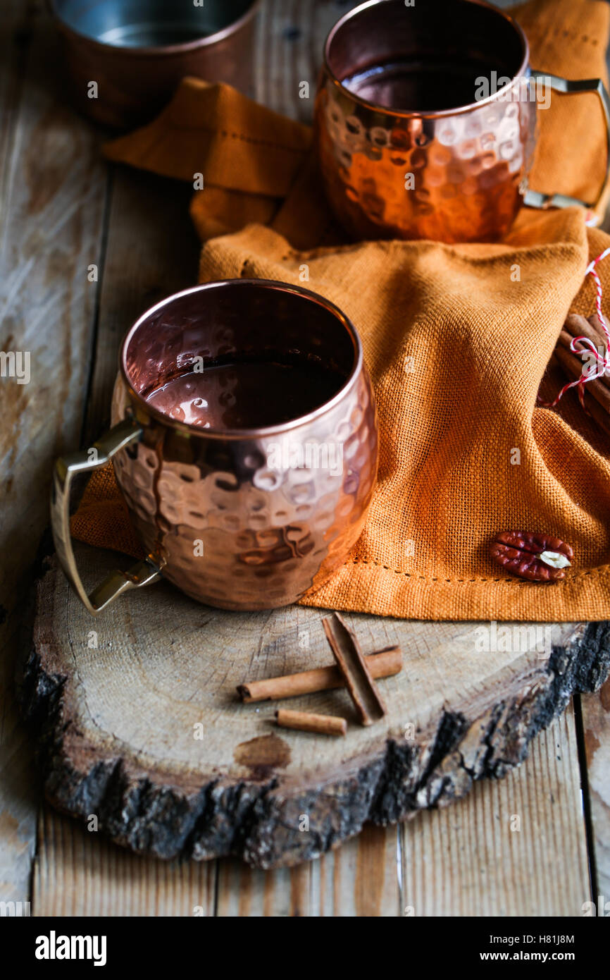 Chocolat épicé chaud Photo Stock
