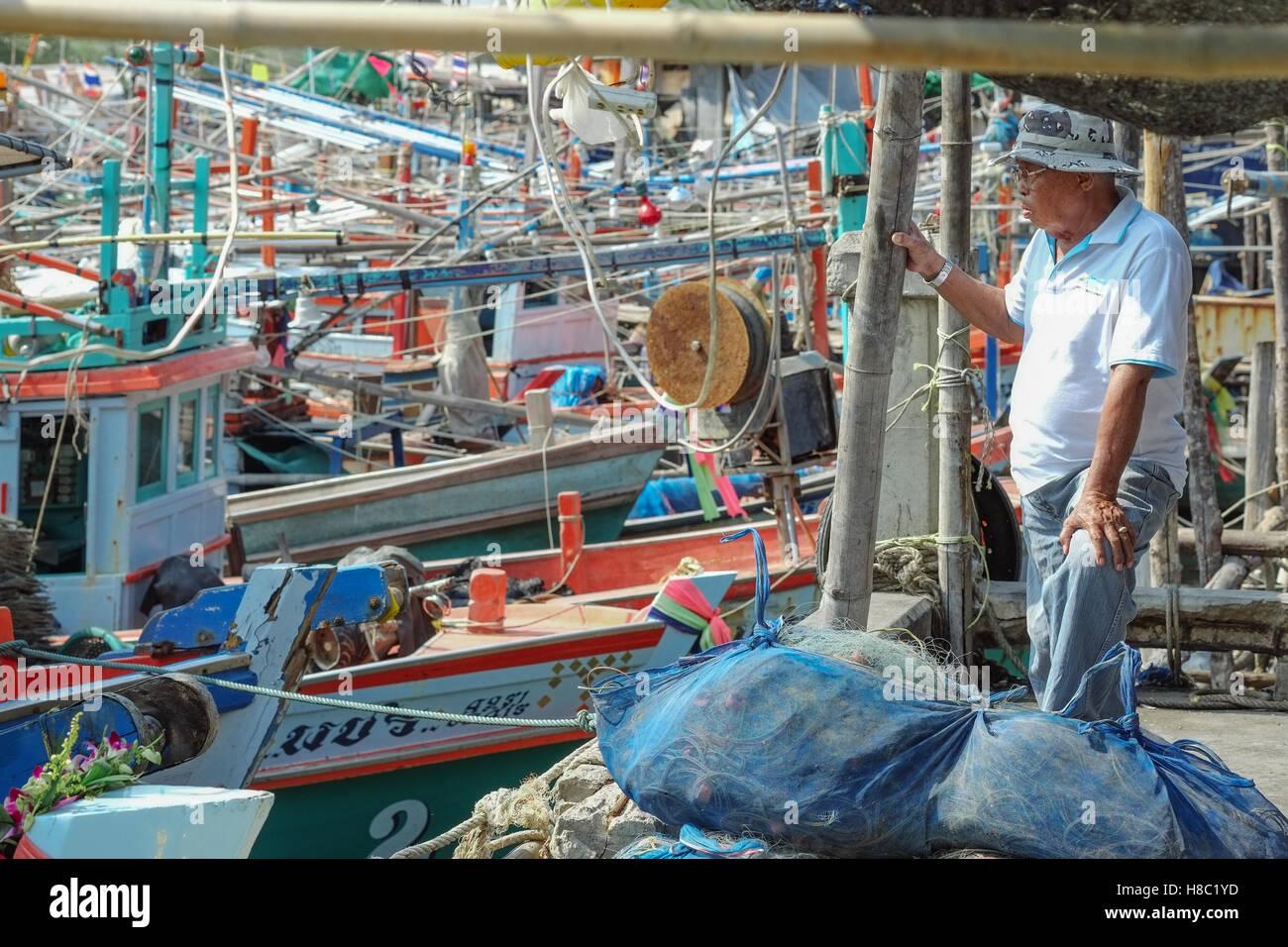 La vie quotidienne des Thaïs à Hua Hin en Thaïlande Photo Stock