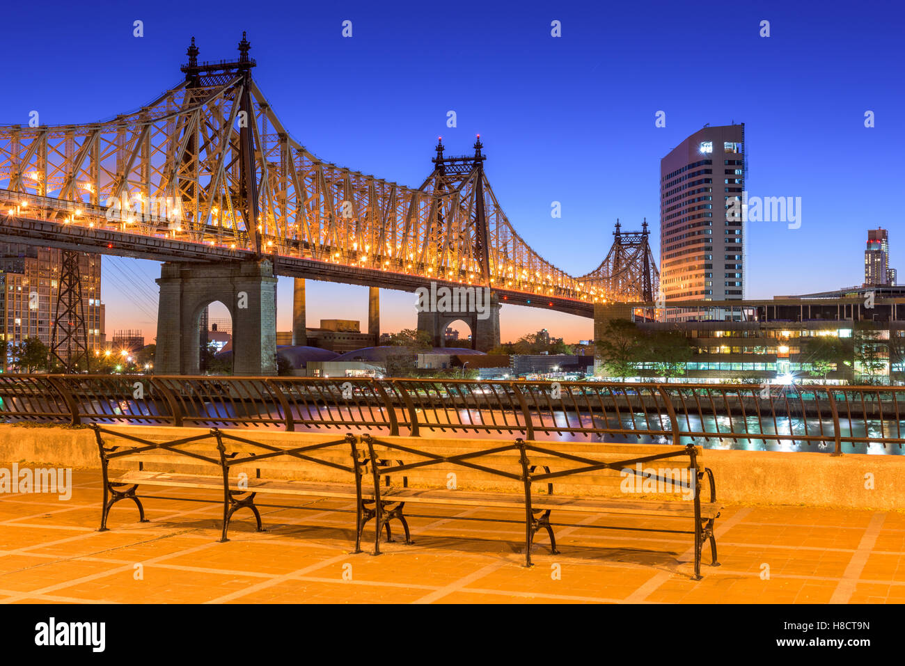 Queensboro Bridge à New York. Photo Stock
