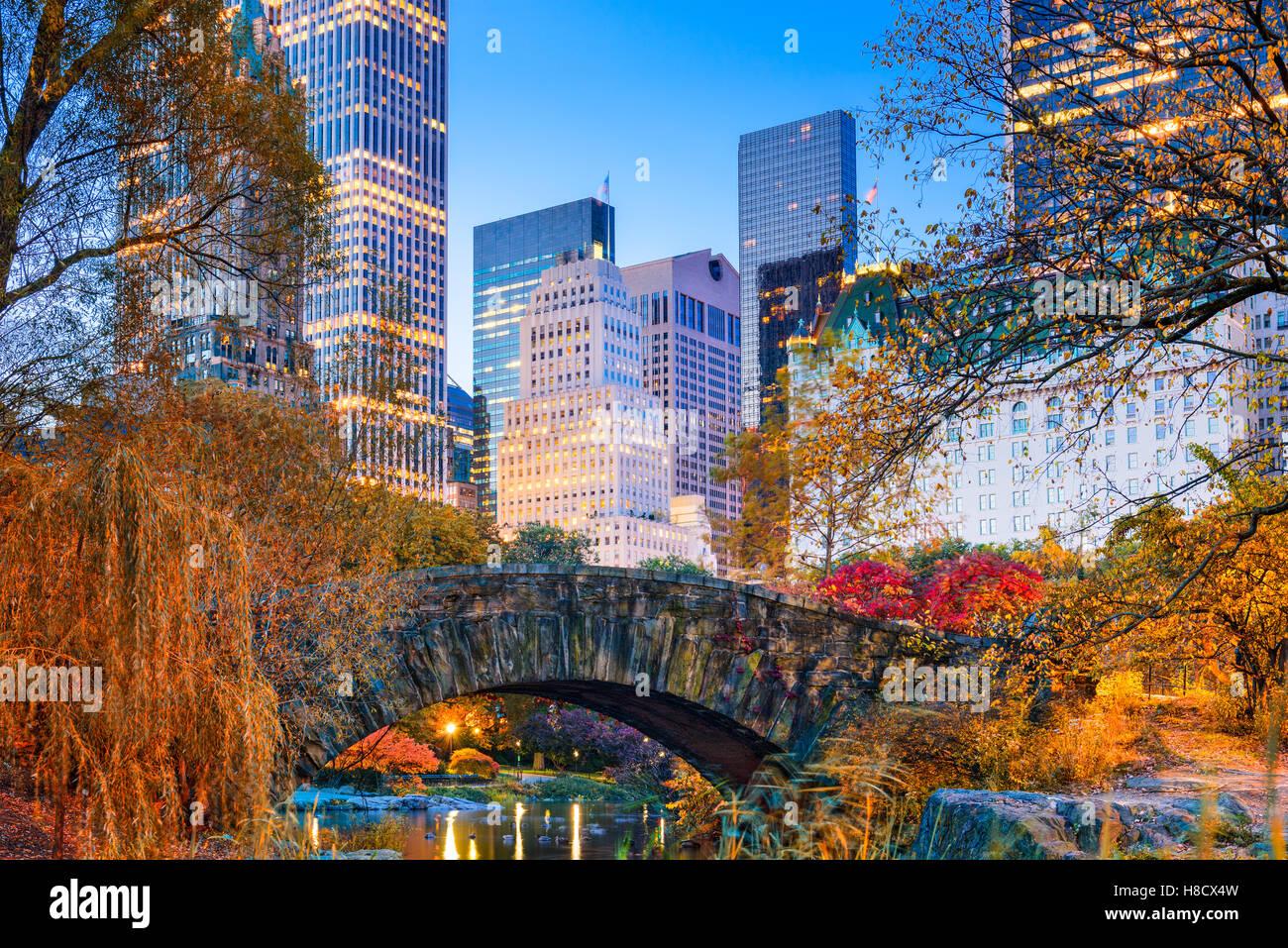 Central Park au cours de l'automne dans la ville de New York. Photo Stock