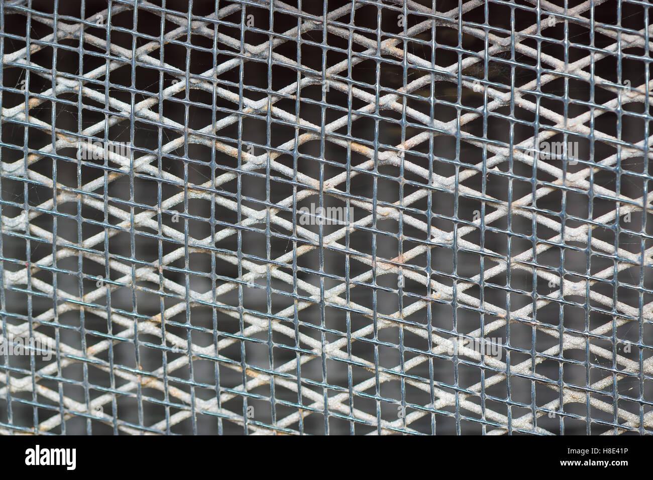 Old rusty metal grille, grillage métallique, l'arrière-plan et la texture Photo Stock