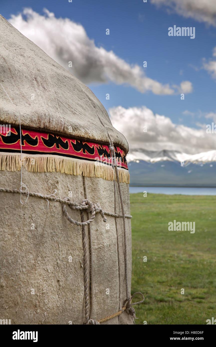 Kirghizistan - images - Voyage d'habitants de l'Asie centrale Photo Stock