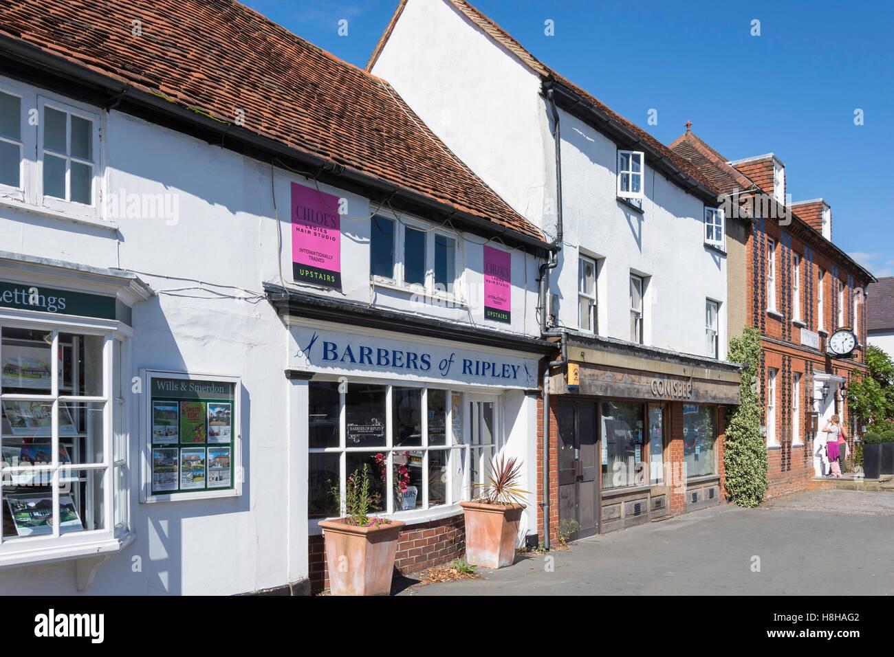 High Street, Ripley, Surrey, Angleterre, Royaume-Uni Photo Stock