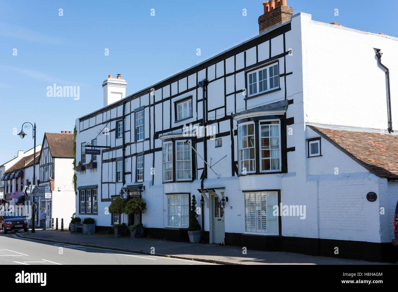 Tudor House, High Street, Ripley, Surrey, Angleterre, Royaume-Uni Photo Stock