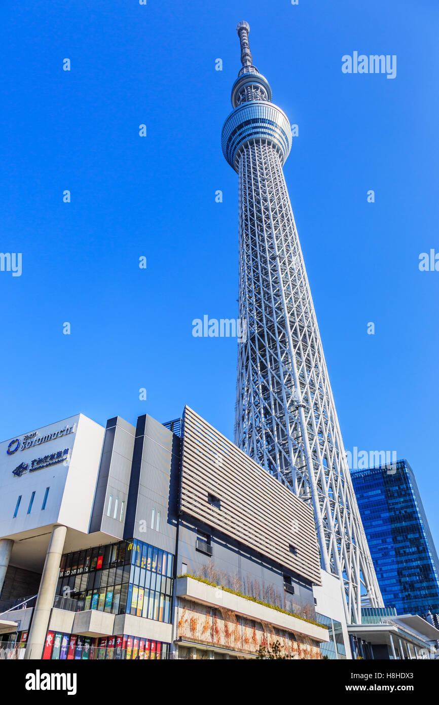 Tokyo, Japon Janvier 25th, 2015: Tokyo Sky Tree, la plus haute structure autonome au Japon. Photo Stock