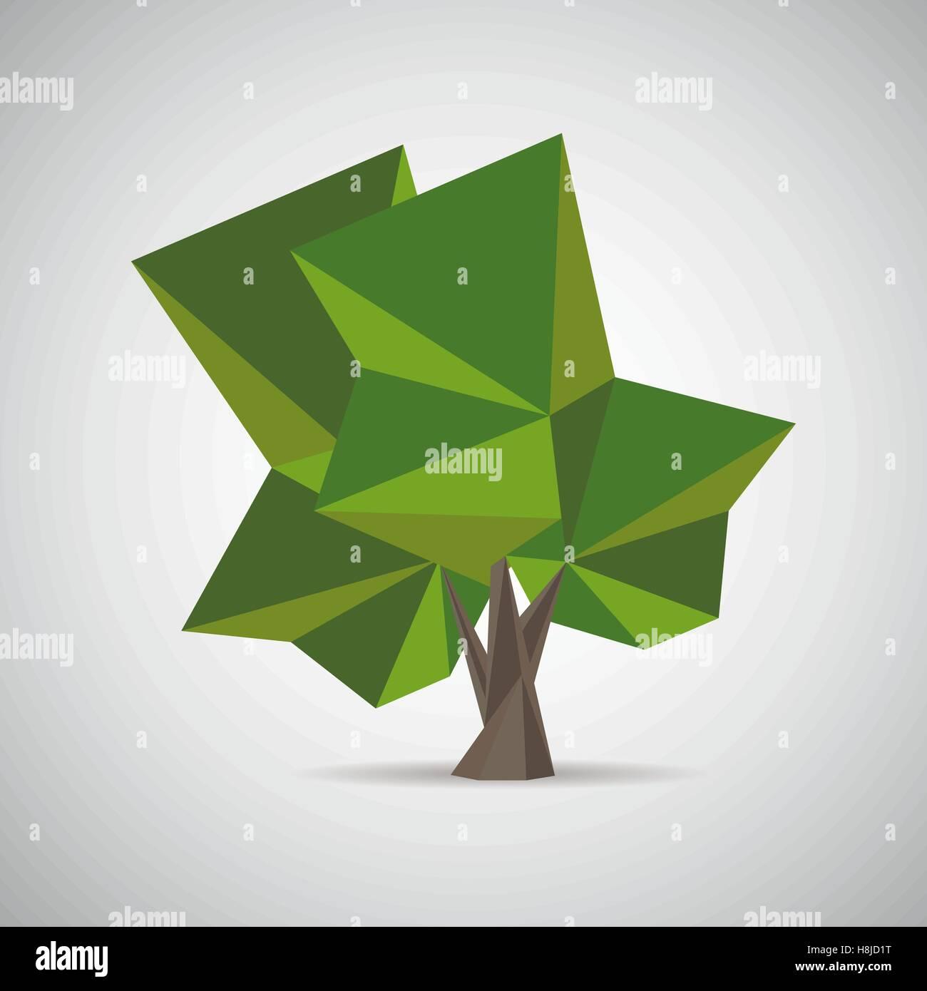 Arbre Polygonal Poly Bas Style La Conception De Llment Bannire Affiche Carte Visite Flyer Brochure Couverture Icne Logo Design