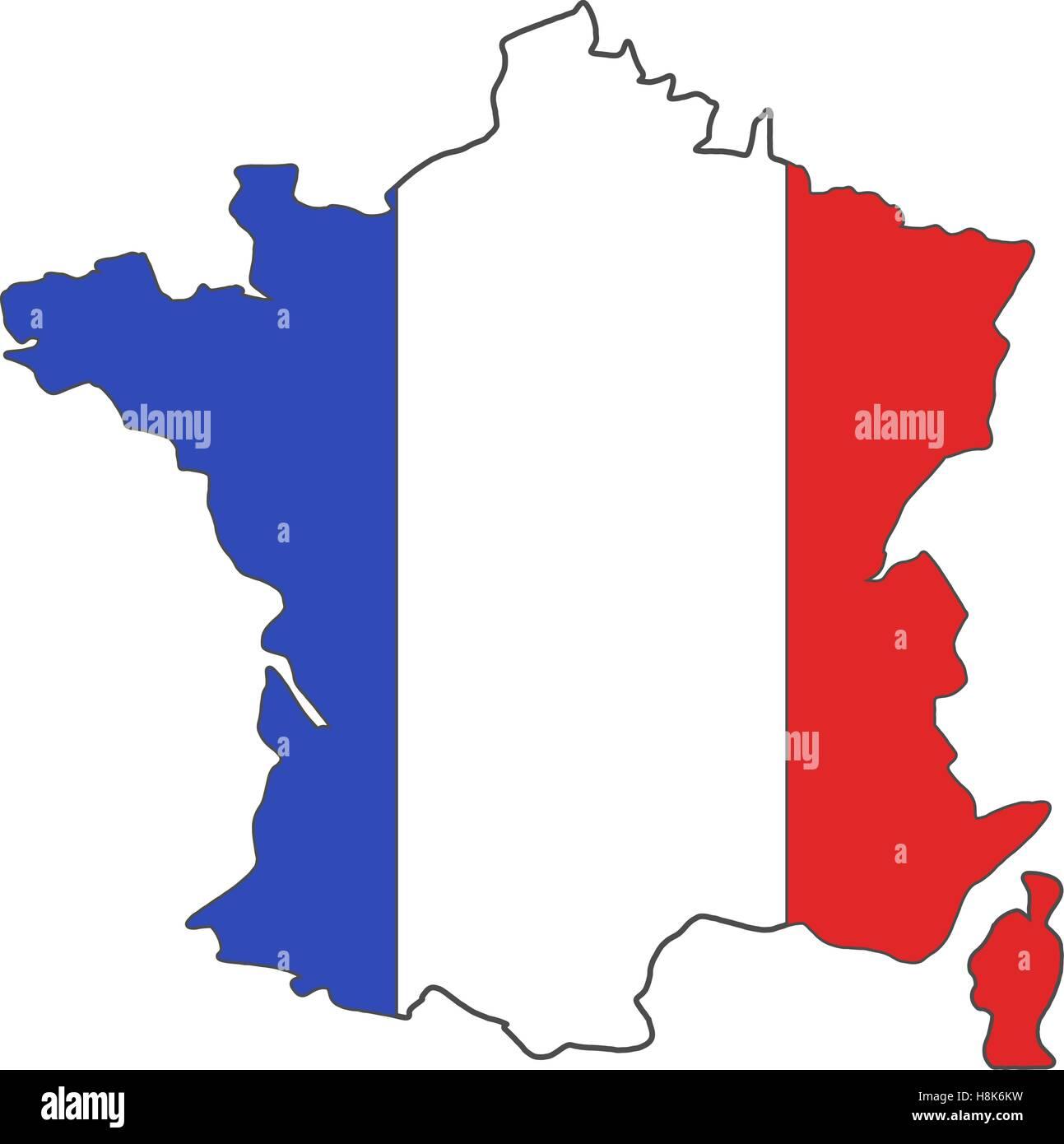 Euro 2016 Championnat France dessin du drapeau. Arrière ...