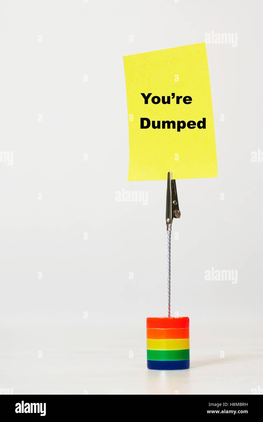 Vous êtes l'objet de dumping Photo Stock