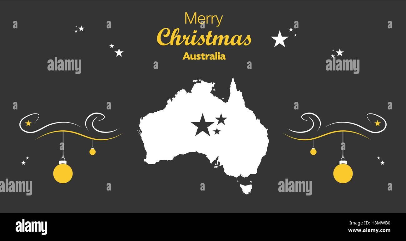 Carte Noel Australie.Joyeux Noel Carte Noire L Australie Vecteurs Et Illustration