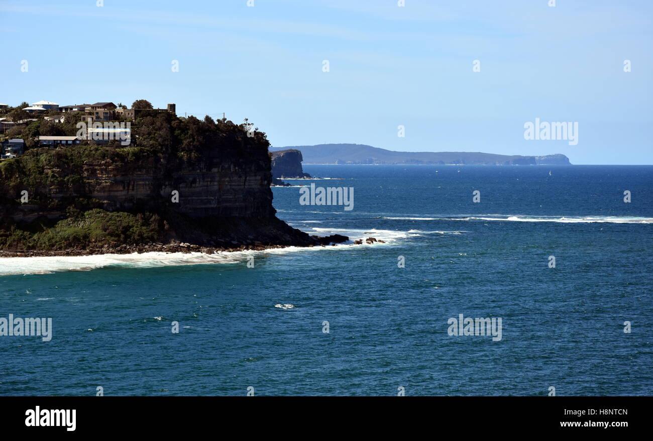 Plages du Nord littoral. Vue de Mona Vale (Sydney, NSW, Australie) Banque D'Images