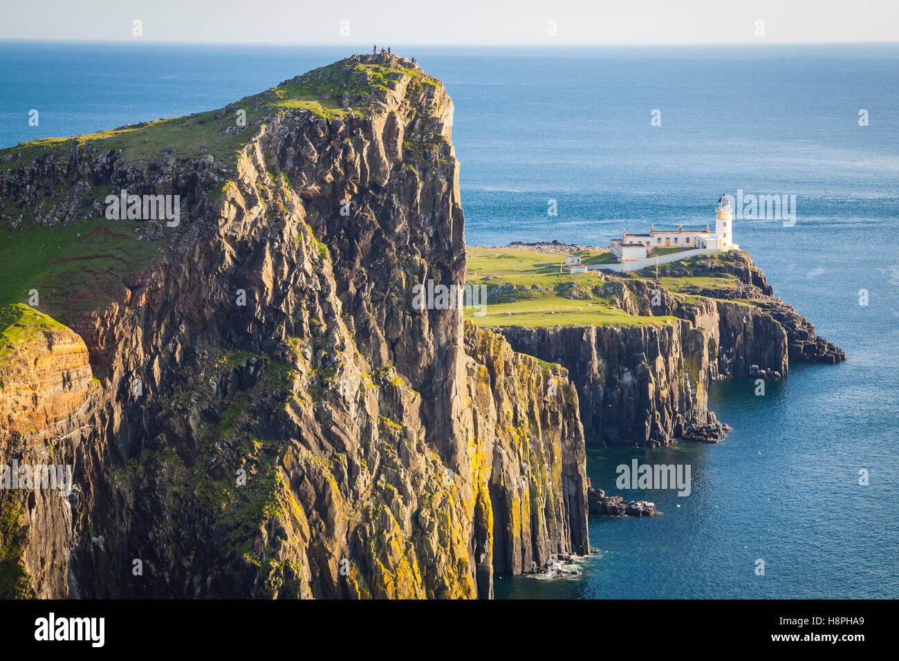 Neist Point Lighthouse, île de Skye, Écosse Banque D'Images
