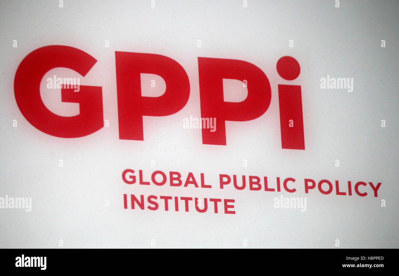 "Logo das der Marke ""GPPI Global Public Policy Institute, Berlin. Photo Stock"
