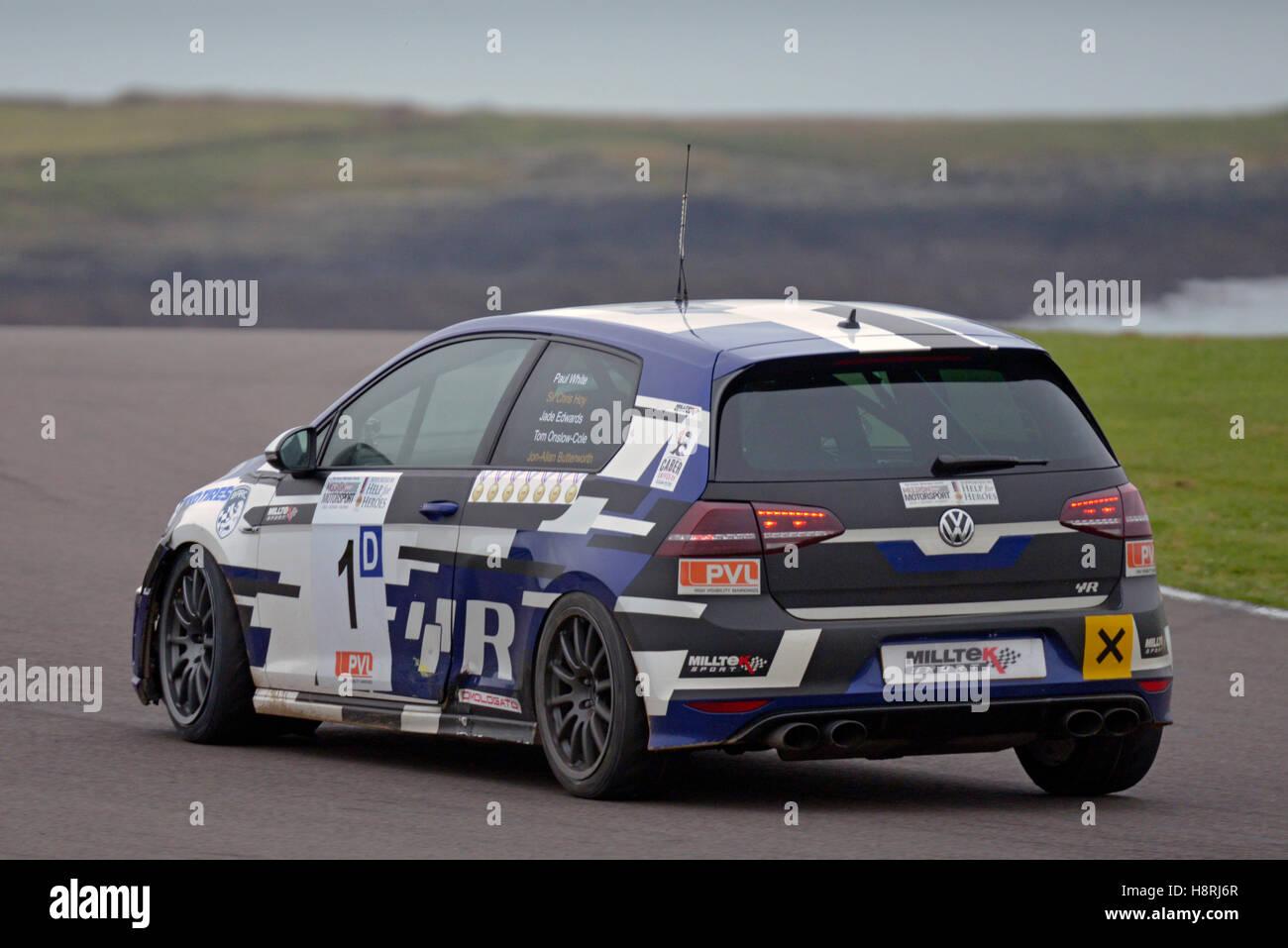 Ty Croes Mission Motor Sport racing Circuit Anglesey, ,le Nord du Pays de Galles, Royaume-Uni,.VW. La race du souvenir. Photo Stock