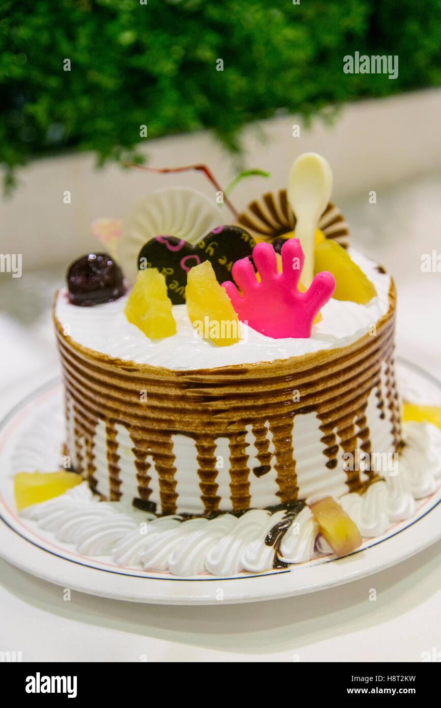 Gâteau, fleuve de voyage, Chine Photo Stock