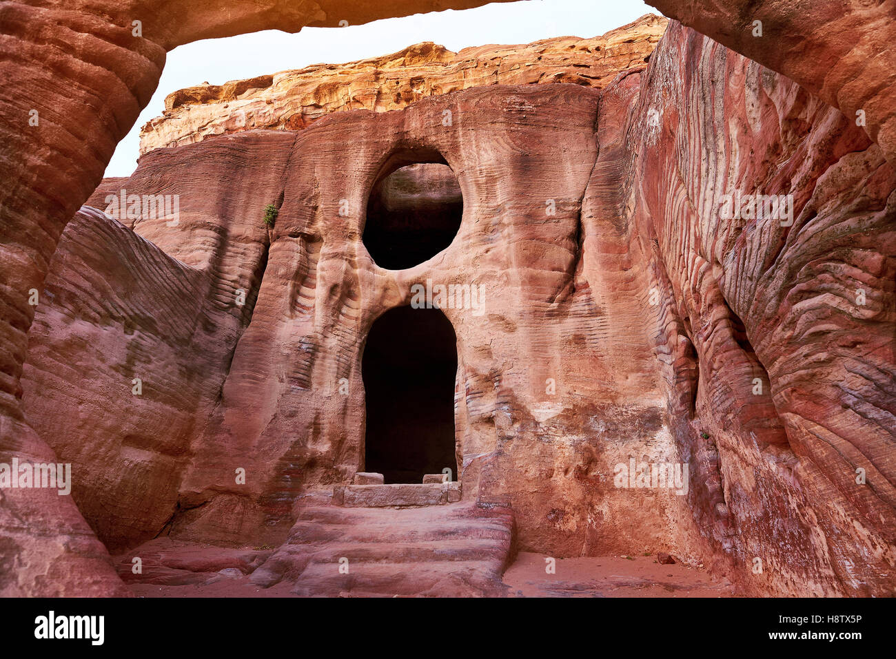 Ville antique de Pétra, en Jordanie Photo Stock