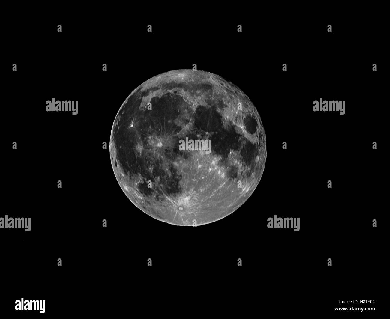 Lune, 14.11.2016 Photo Stock