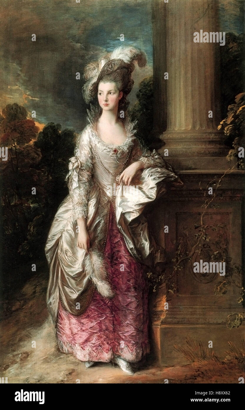 Thomas Gainsborough -L'Honorable Mme Graham Photo Stock